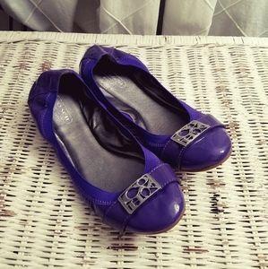 💜Coach Purple Patent Leather Ballet Flats💜